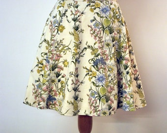 The Sylvia Skirt - one off fifties style skirt made from Vintage fabric - Size 10