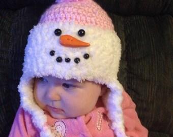 Snowman Hat - pink