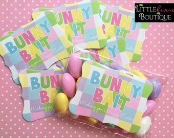 Easter Stickers,Bunny Bait Stickers,Bunny Bait Labels,Easter Favors, Bunny Bait Favors, Gift Stickers, Class Treats, Easter Party