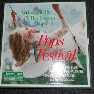 Vintage Reader's Digest 10 Record Box Set-Arthur Fiedler & The Boston Pops-Pops Festival