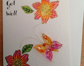 Get Well greeting Card, 2D handmade Card