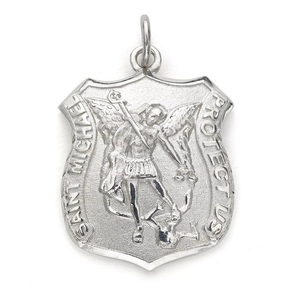 Saint michael pendant sterling silver aloadofball Images