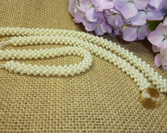 Pearls and Swirls Necklace and Bracelet