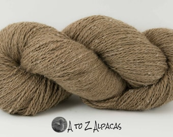 SUPER-SIZED SKEIN! Royal Baby Alpaca Yarn Sport Weight Natural Fawn Color 200 gram skein