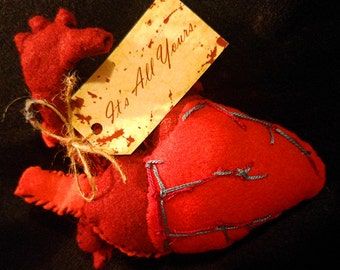"""Anatomical Heart Plush 