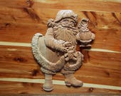 Santa Wood Carving - Sant...