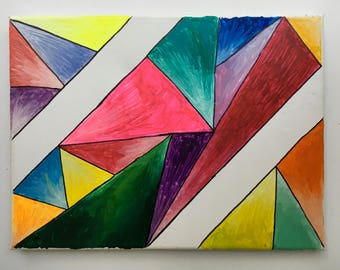 Geometric Color Encaustic