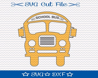 School Bus SVG, Teacher svg, SVG Cut File for Silhouette, Back to School SVG, Yellow Bus svg