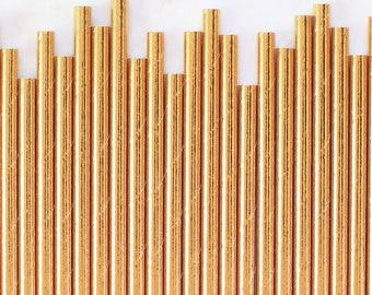Solid Gold Foil Paper Straws, Gold Foil Stripe Paper Straws, Gold Cake Pop Sticks, Foil Gold Paper Straws, Paper Straws, Gold Party Straws