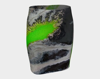 Green Mama Fitted Skirt. Wear this skirt anywhere. Garenteed it will look good on you!