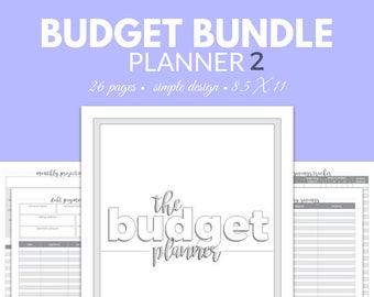 BUDGET Planner BUNDLE Finance Planner Debt Tracking Savings Organizer Download Holiday Gift Expenses Budgeting Save Money Debt Snowball