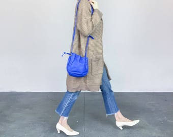 Primary Blue Leather Bag