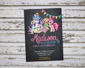 My Little Pony Birthday Invitation / My Little Pony Invitations / My Little Pony Invites / MLP invitations / MLP Invites