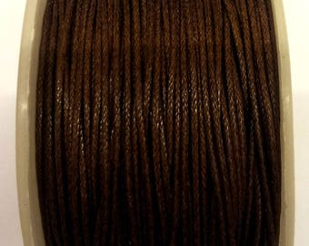 3 meters of Brown waxed cotton thread 1 mm