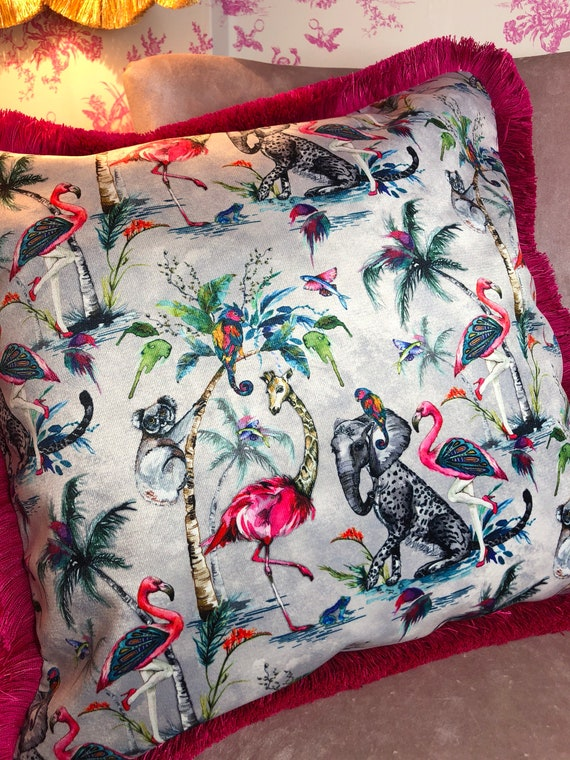 Luxury velvet Chimiracle Grey cushion 50 x 50