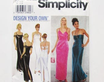 Woman's Fitted Evening Gown, Bridesmaid, Elegant Simplicity Pattern 9124-Uncut