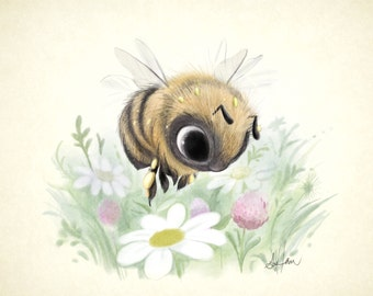 Little Worker Bee 8x8 print