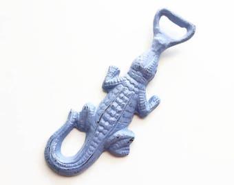 Metal Alligator Bottle Opener. Gator Beer Opener. Boho Chic Barware. Cast Iron Bottle Opener. Crocodile Bar Tool. 21st Birthday