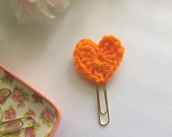 Crochet Heart Planner Clip - Bookmark - Planner Accessories