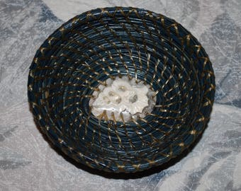 "Pine Needle Basket ""At the Bottom of the Deep Blue Sea"""