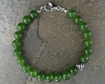 JADE WAVE BRACELET // Jade beads, Jade Bracelet, Mens bracelet