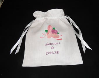 bag for ballet shoes embroidery machine cotton