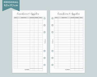 Financial overview - 20 sheets - staff