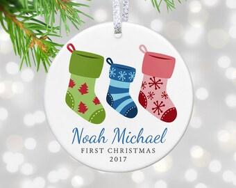 Baby's First Christmas Ornament, Custom Christmas Ornament, 1st Christmas Ornament, First Ornament, New Baby Ornament Christmas Decor