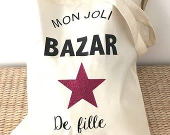 Tote bag lovely girl Bazaar