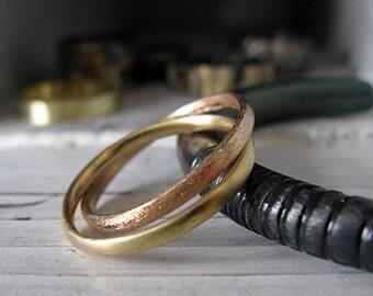 SALE Size 11 Mens Wedding Band Interlocking Mens Wedding Ring Unique Mens Wedding Band Mens Wedding Bands Gold Wedding Ring Mens Wedding Rin