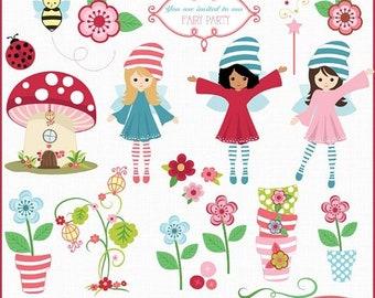 50%OFF Fairyland clip art, fairy clip art, fairy garden clip art, fairy vector clip art, commercial use clip art, C272