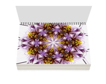 Mandala Art Spiral Bound Blank Journal Sketchbook or Notebook Purple Daisy Your Paper Choice