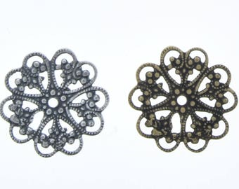 Filigree 18mm made in USA, sold 6 each 03653CS & AG