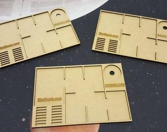 Star Wars X-Wing Card Organizer Ship and Upgrade Card Tray x 3