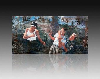 """Carnalismo  .Giclee on canvas 24"""" by 48"""" embellished and signed by the original artist Adan Hernandez"""