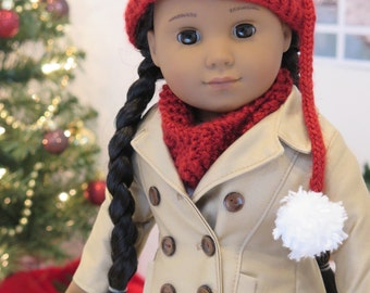 """18 Inch Doll Clothes - Gold Piccadilly Peacoat - American Made 18 Inch Doll Jacket - Fully Lined Peacoat - 18"""" Doll Winter Jacket Coat"""