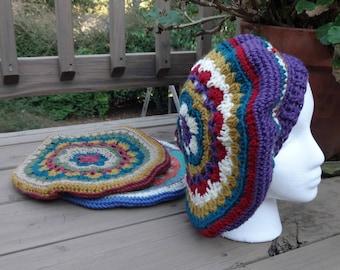 Slouchy Mandala Style Beret Crochet Pattern