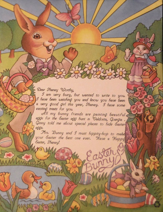 Personalized easter bunny letter easter gifts easter like this item negle Images