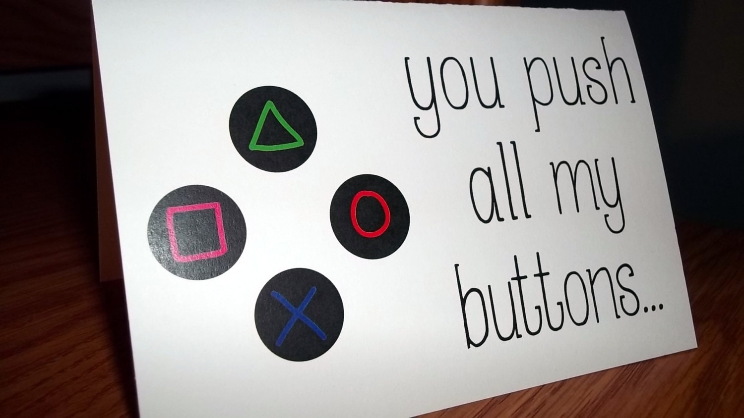 Funny anniversary card you push all my buttons