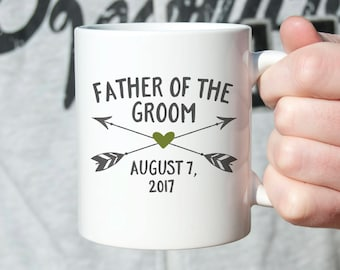 Father of the Groom Gift from Groom Father of the Groom Gift from Son Father of the Groom Wedding Gift for Dad from Son Mug Coffee Mug Arrow