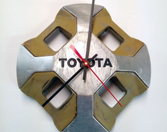 1982 - 1985 Toyota Celica and Supra Hubcap Wall Clock - 1983 1984 - Industrial Home Decor
