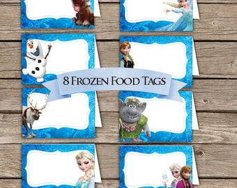 Frozen Food Tents! Place Holders! Digital Download!  Frozen Birthday Party!