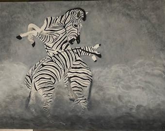 Painting zebra's