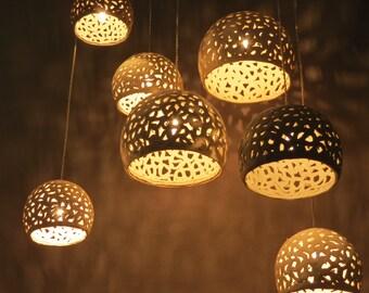 Hanging lampshades etsy ceiling chandelier modern hanging light ceramic lighting fixtureandelier lighting hanging lampshades aloadofball Gallery