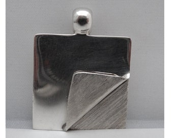 Vintage Silver pendant. Vintage silver pendant. Modernist design; Vintage Jewelry. Gift for her. Gift for him. Vintage lovers.