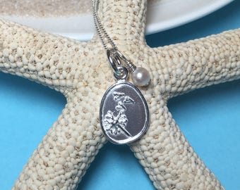 Blowing in the wind... sterling dandelion necklace
