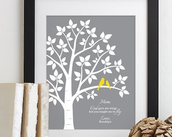 Wedding Gift for Mom Gift for Mother of the Bride, Wedding Gift For Parents Gift from Bride and Groom, Thank You Wedding Gift -Custom Colors