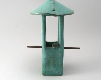 Bird Feeder, Ceramic Bird Feeder, Pottery Bird Feeder