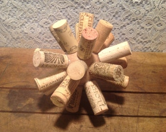 Wine Cork Ball Decor