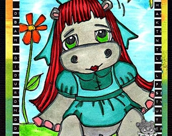 1536 Wonder Alice Hippo Digi Stamp
